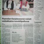 Kirsi-Maria Hiltunen sai jaetun kolmannen palkinnon Karjalaseurojen Pohjolan Piirin runokilpailussa