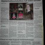 Karjala-lehden artikkeli Kirsi-Maria Hiltusesta