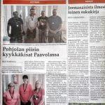 Karjalaisten Pohjolan piirin kyykkäkisat Paavolassa artikkeli Karjala-lehdessä