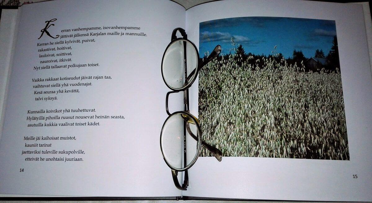 runoja Karjalasta haikeudella