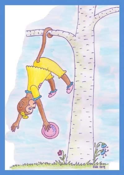 postikortti frisbeegolfaajalle