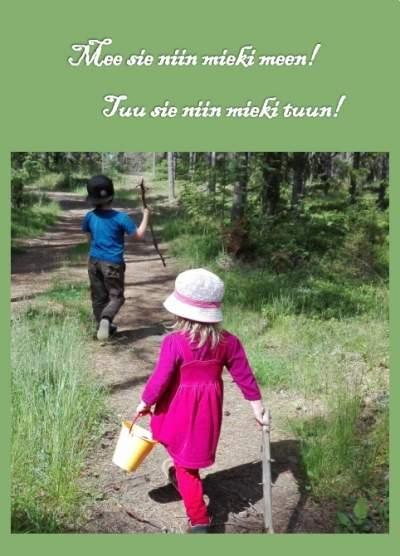 Postikortti hälle, jonka sydämessä on Karjala
