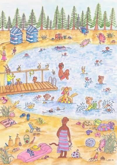 Uintiaiheinen postikortti