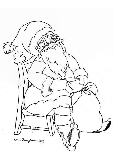 jouluinen postikortti joulupukki