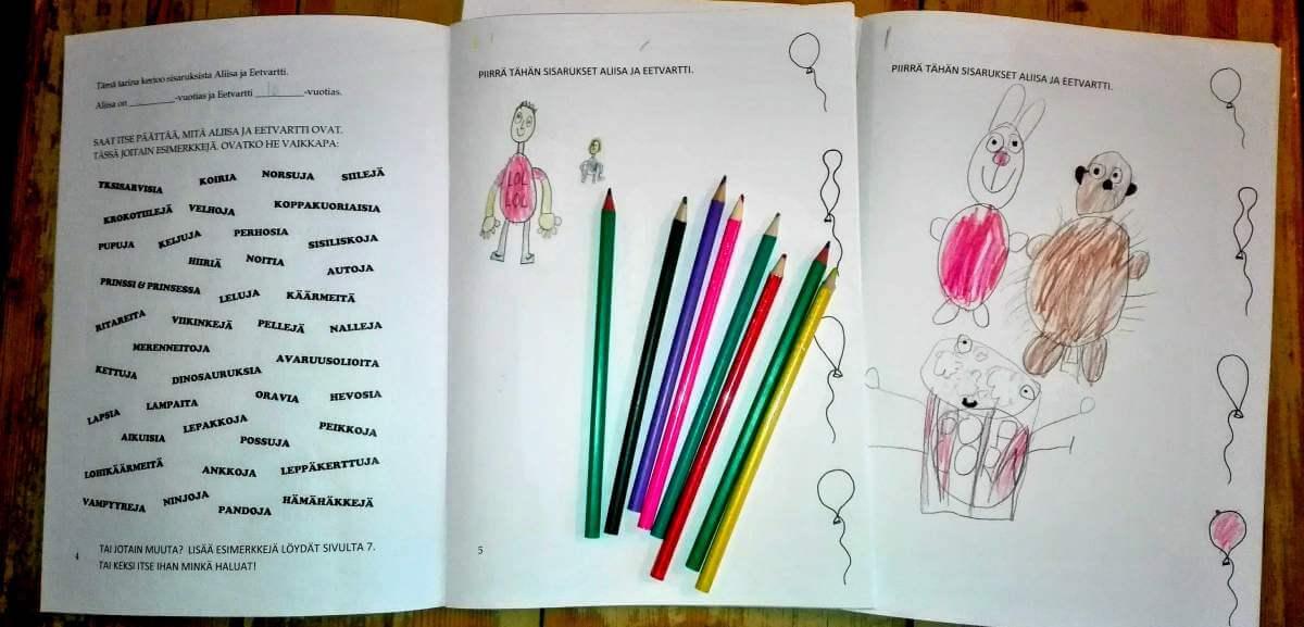 personoitu kirja lapselle