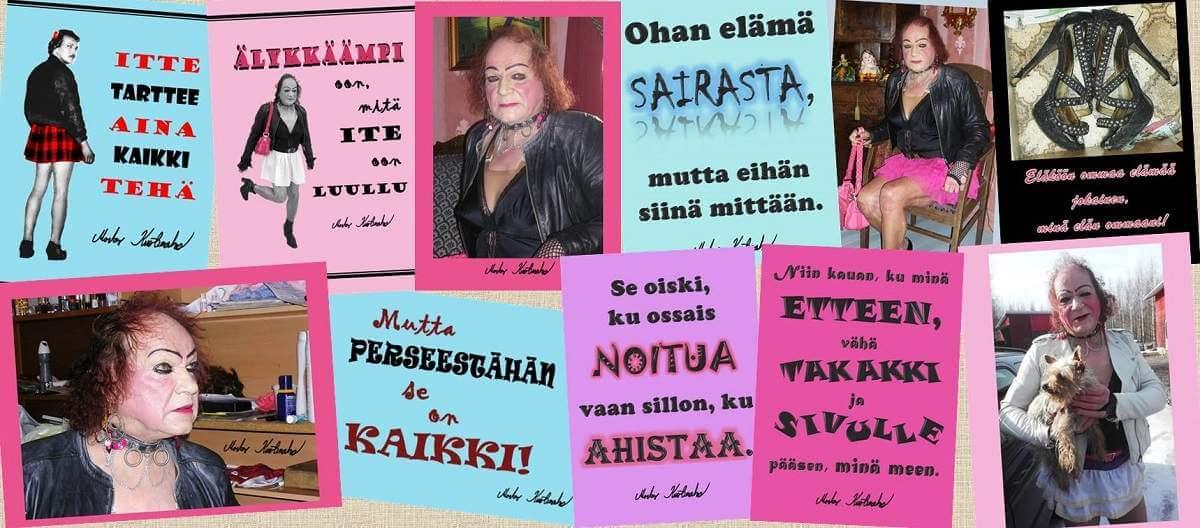 Markus Kuotesaho kortteja mietelausein ja kuvin