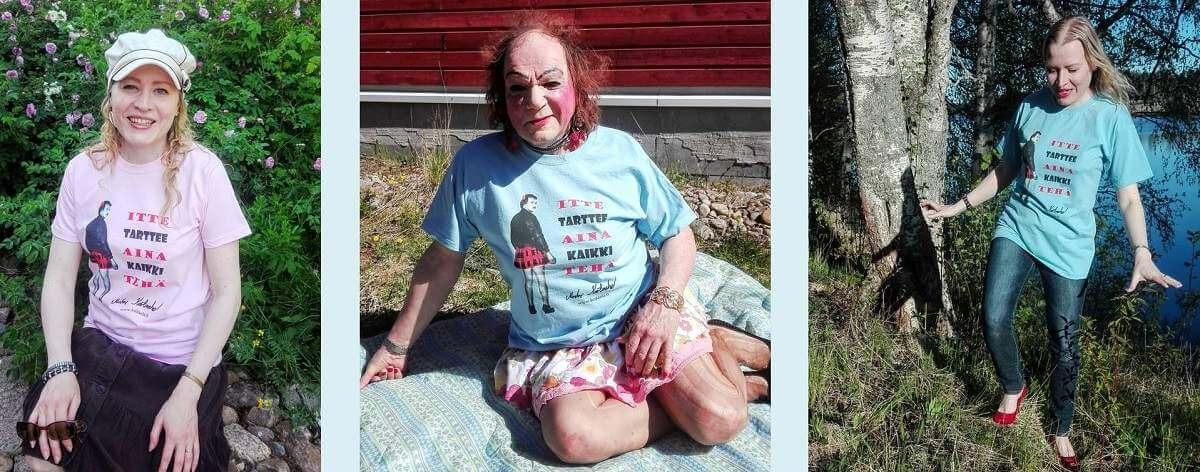 transvestiitti Markus Kuotesaho fanituotteet